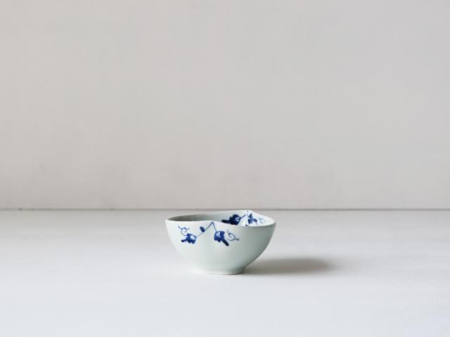 陶花紋 桃型小付 有田焼