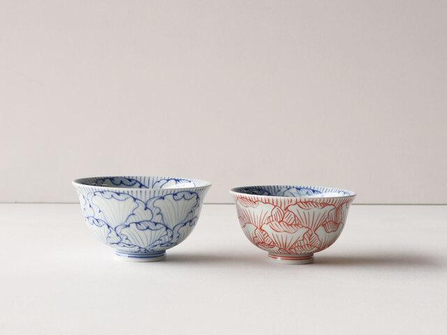 染付 花弁紋 茶碗 有田焼