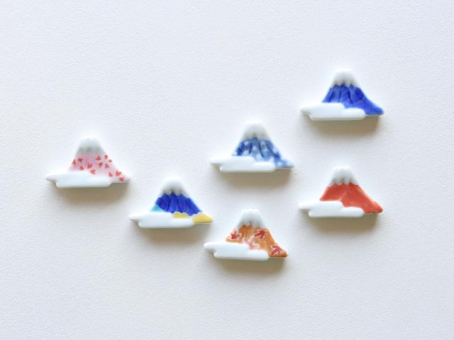 雲海 四季 富士山 箸置き 有田焼