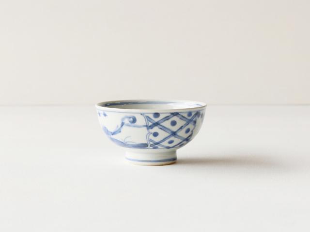 古染花鳥紋 茶碗 伊万里焼