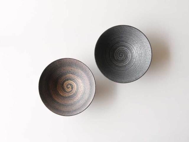 晶金・晶銀かすり 空平菓子鉢 有田焼