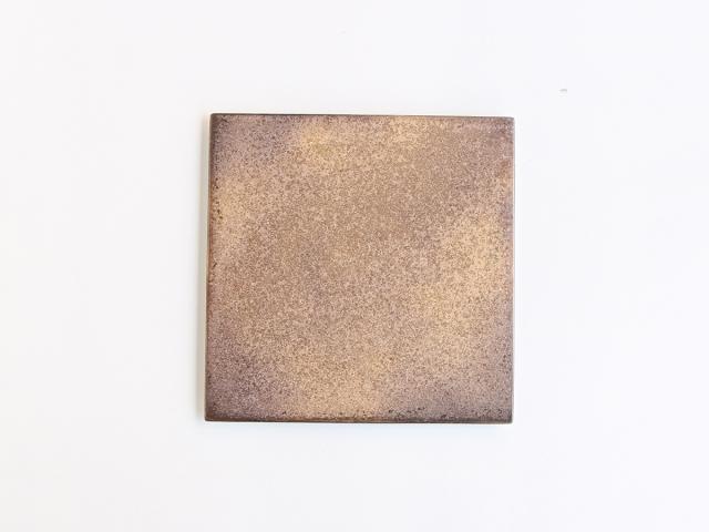 黒柚子 金塗り 24cm角型陶板 有田焼