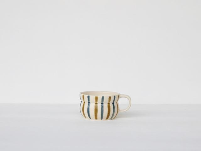 【デッドストック】粉引釉十草 アイスカップ