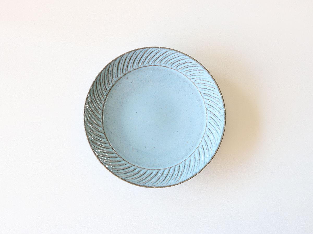 ブルーねじりしのぎ 8寸皿 波佐見焼