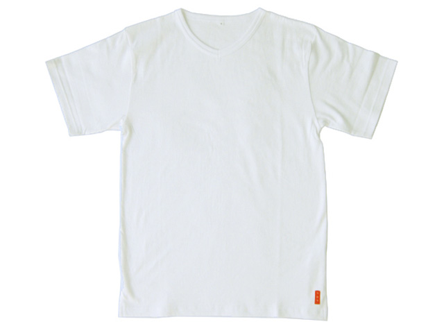 【SF】V首半袖Tシャツ ホワイト