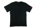 【SF】V首半袖Tシャツ ブラック