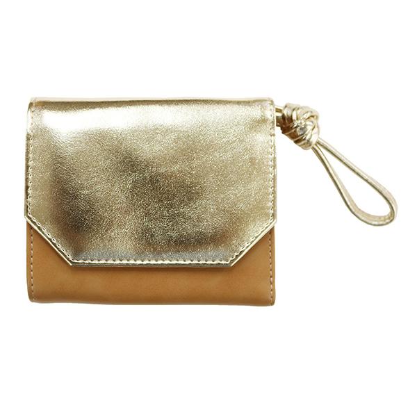 三つ折り財布 バイカラー アコモデ