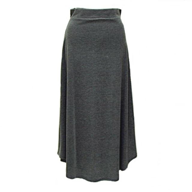 薄手スウェットフレアロングスカート