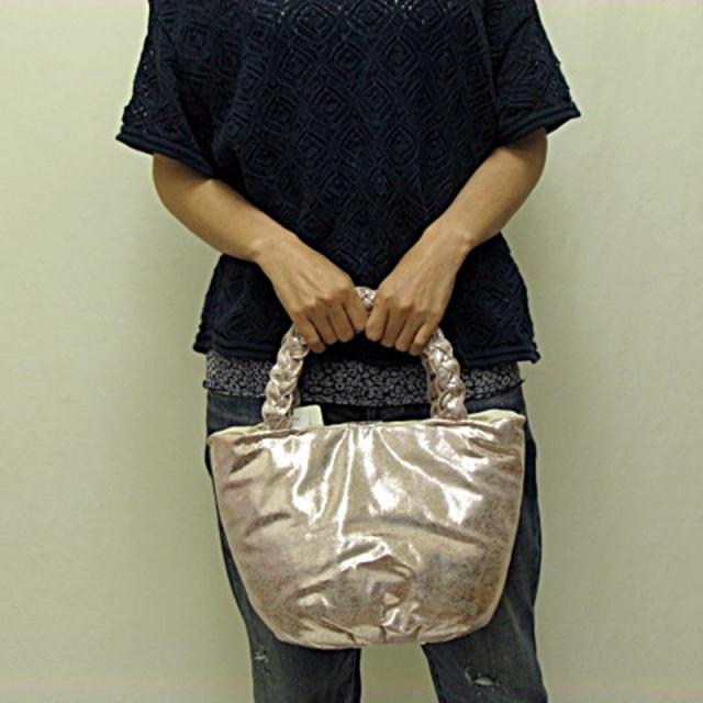 ESTNATION(エストネーション)メタルピンクぷっくりバッグ