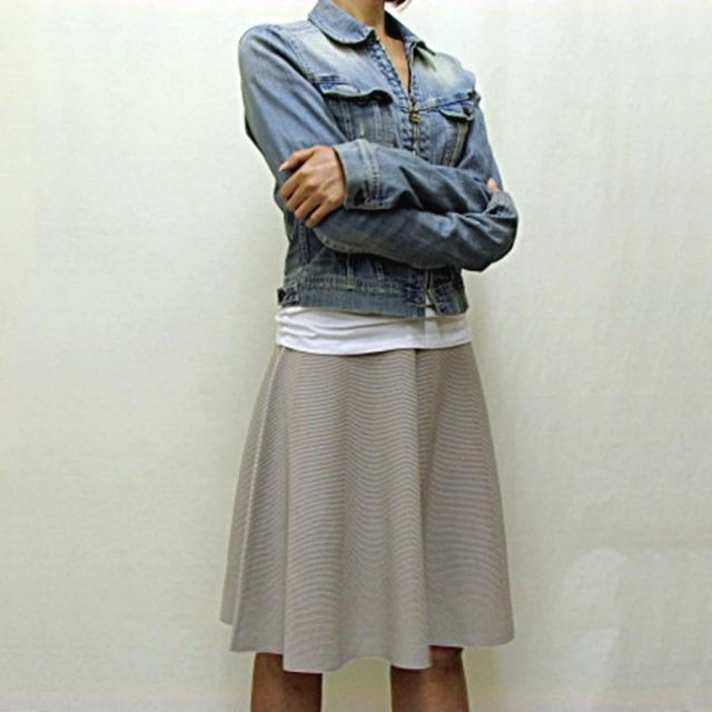 スカート フレア ニット