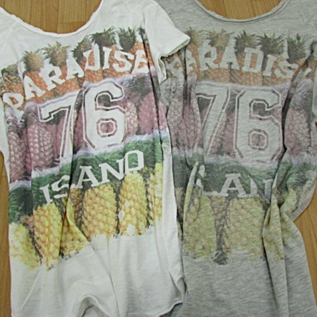【IMPORT】インポート イタリア製 後ろレースTシャツ