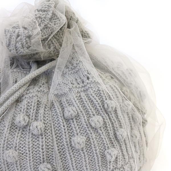アコモデ 巾着 ショルダーバッグ