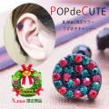[16G]POPでCUTE♪クリスマスカラー渦巻キャンデージュエル軟骨ピアスボディピアス 0841