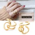 【1月新作】一癖あるデザインでコーデにスパイスを。 GOLDリング 指輪 アクセサリー RING 0638