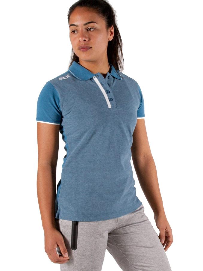 BLK LIFESTYLE ポロシャツ(デニムブルー)レディース