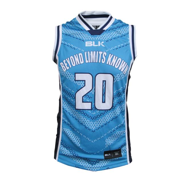 BLK バスケットボールシングレット BeyondLimitsKnown(タイタンズブルー)