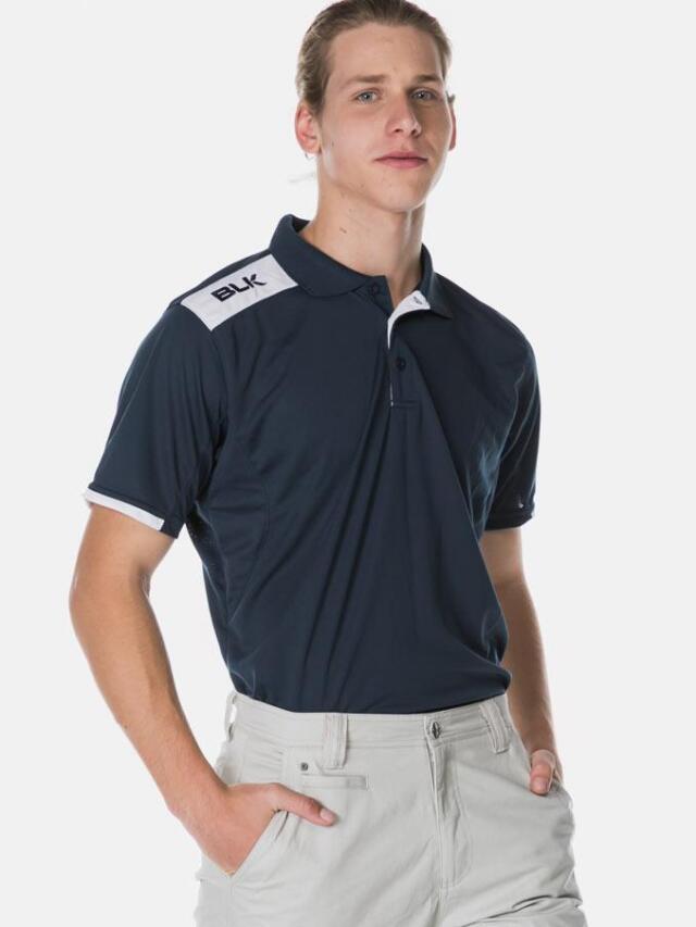 BLK Tek 6 ポロシャツ(ネイビー )