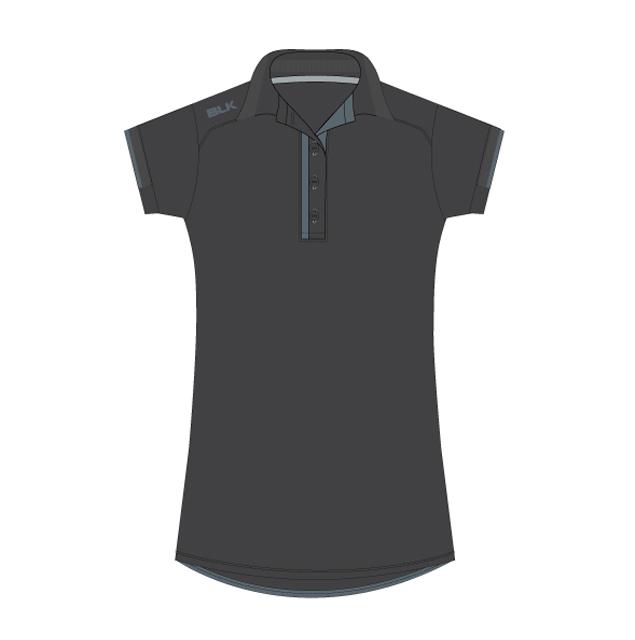 BLK T7 ポロシャツ(ガンメタリックグレー)レディース