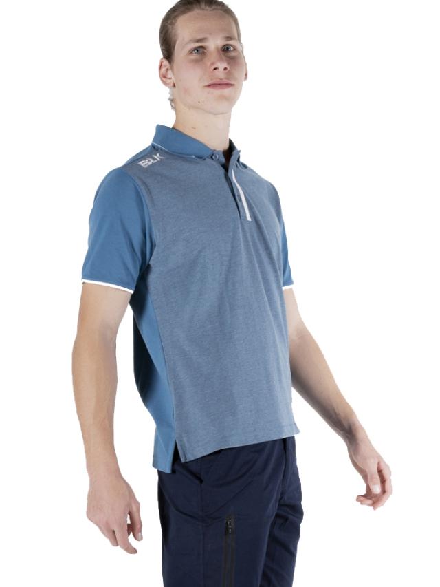 BLK LIFESTYLE ポロシャツ(デニムブルー)
