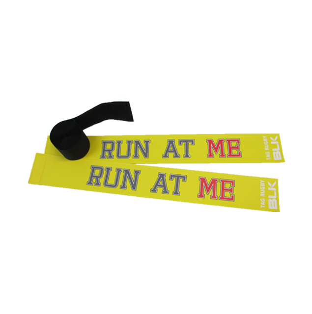 BLKタグ・ラグビー用タグセット (Run at Me)*黄色