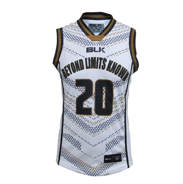 BLK バスケットボールシングレット BeyondLimitsKnown(ホワイト)