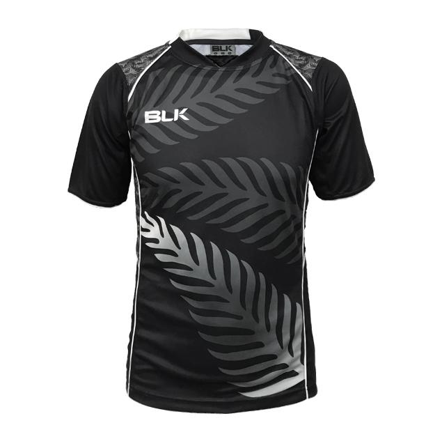 BLK トレーニングティーシャツ PRO (BLACKセンターネック)
