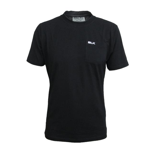 BLK Crewコットンティーシャツ(ブラック)