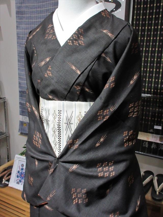 久米島紬 重要無形文化財 美しいキモノ掲載