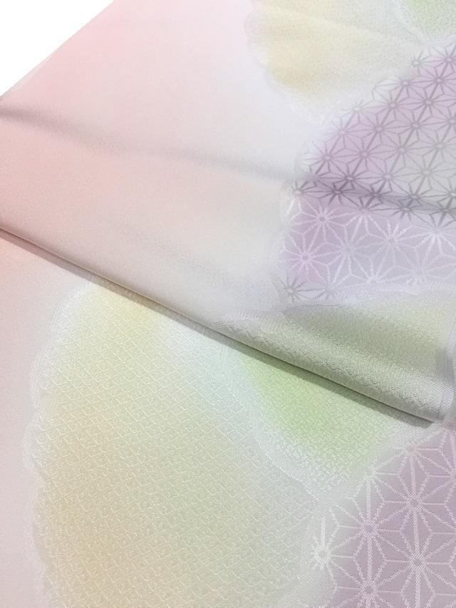 丹後帯揚げ 雪輪フォーマル