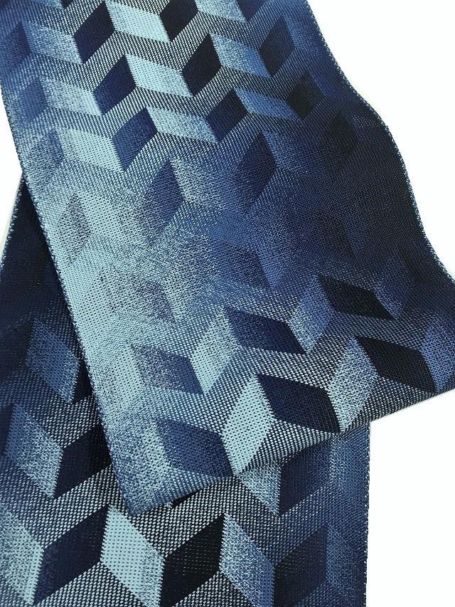 三軸組織 藍染 帯