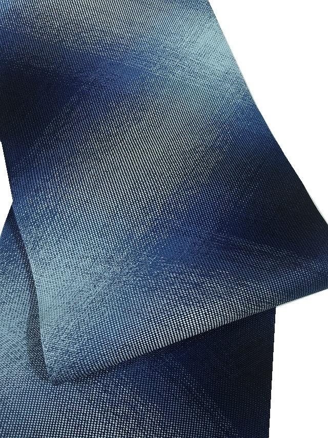 三軸組織 帯 藍染