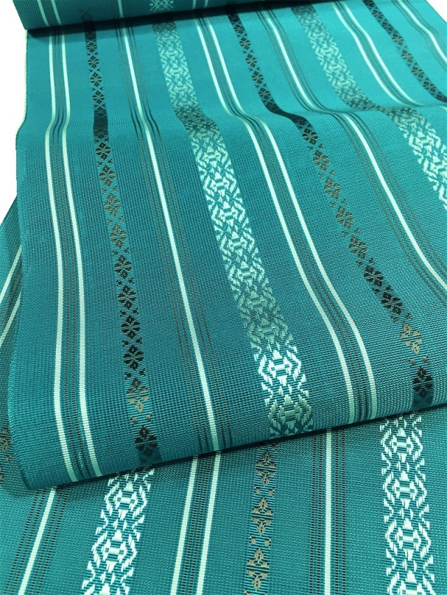博多織紗献上八寸名古屋帯 グリーン