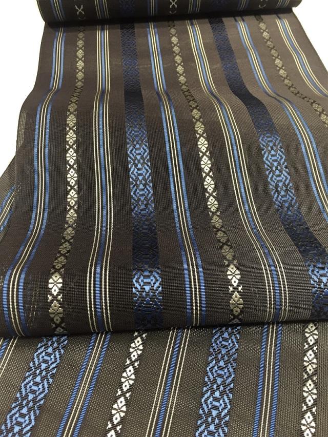 博多織紗献上八寸名古屋帯 コーヒーブラウン