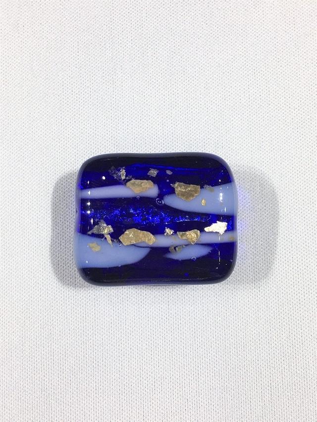 【帯留】【琉球ガラス】【ハンドメイド】 【青紫】 【送料全国一律510円】