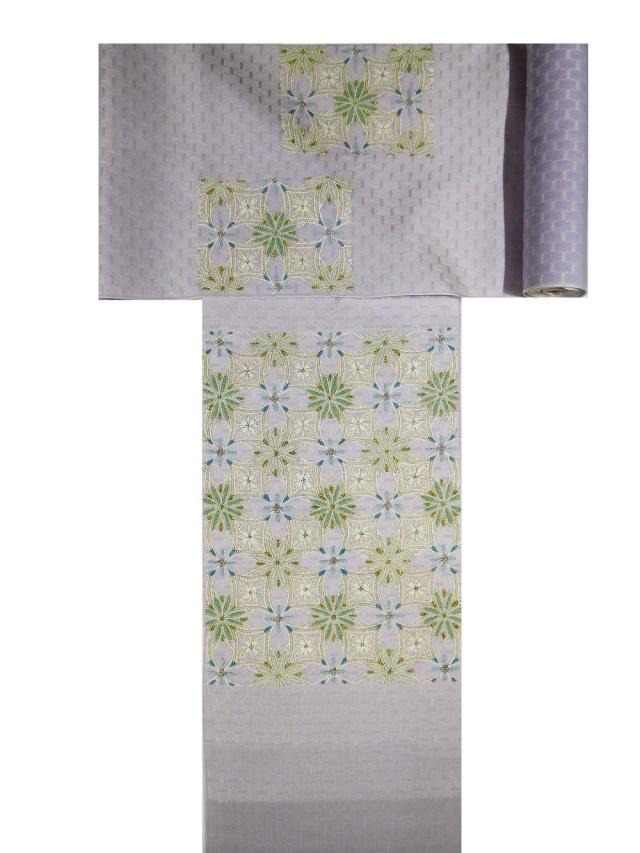相良刺繍袋帯 七宝に華