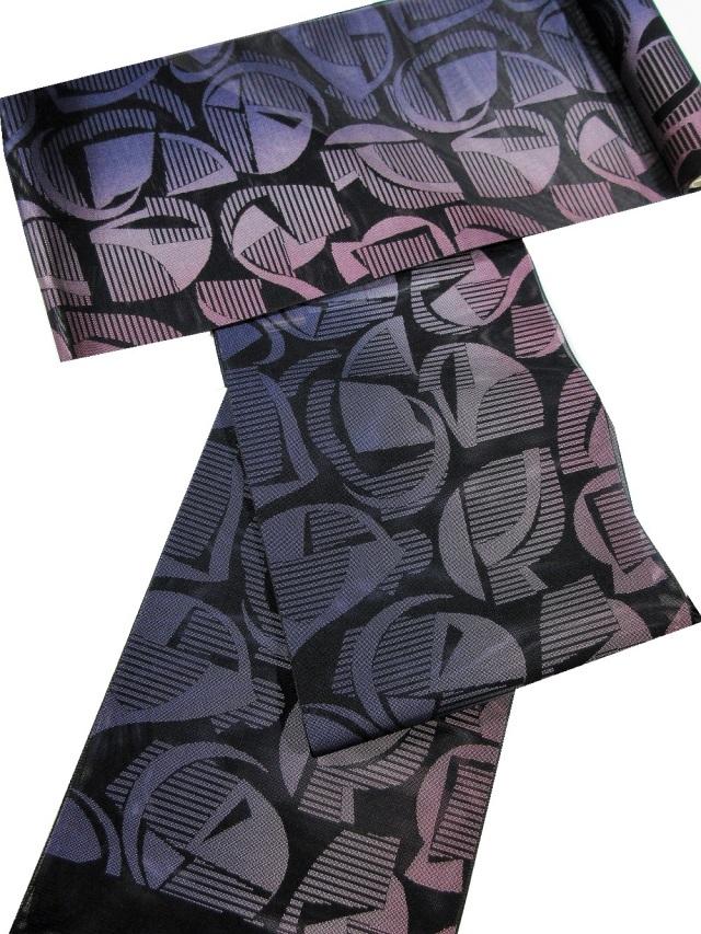 博多織 紗八寸帯 アールヌーボー