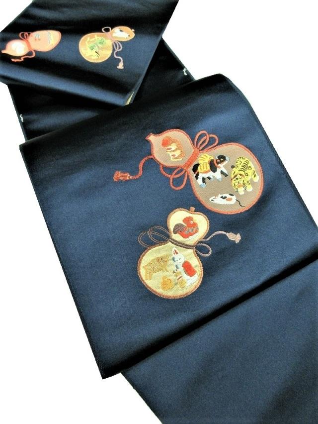 干支 刺繍 山口織物 九寸名古屋帯
