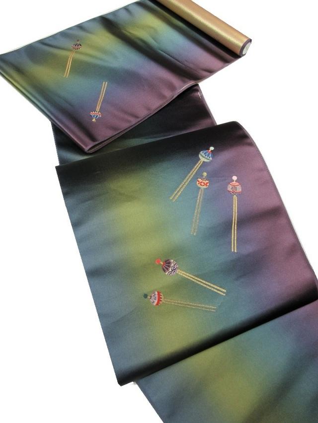 かんざし 刺繍 九寸名古屋帯 山口織物
