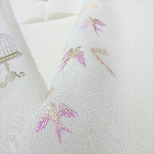 刺繍半衿 鳥