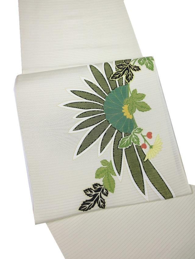 夏 九寸名古屋帯 染帯 菊