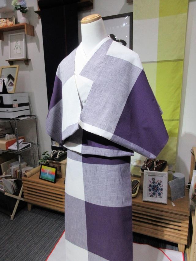 片貝木綿 紫