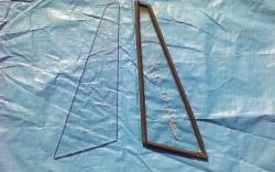 '68~SR311用三角窓ガラス 2枚左右分 中古