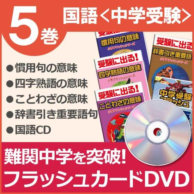 小学国語フラッシュdvd中学受験セットdvd4巻cd1巻中学
