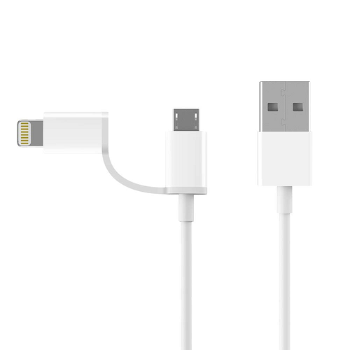 ZMI-LT2I1WH  ZMI 2in1 USBケーブル