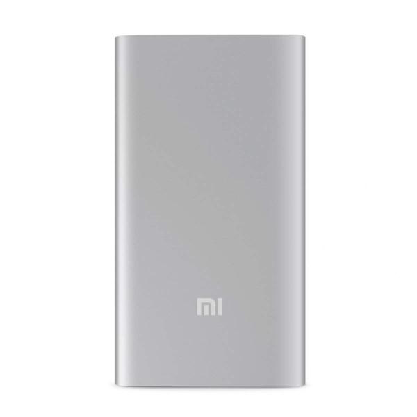 【正規品】5000mAh Mi Power Bank (シルバー) | Xiaomi (小米、シャオミ) モバイルバッテリー