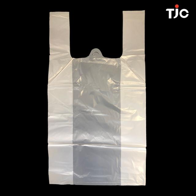 TJC製 環境にやさしい PLA 生分解性レジ袋・ショップバッグ・ニュー環境バッグ(白) SS/S/M/L/LLサイズ 1バッグ   1箱 ( 10パック)