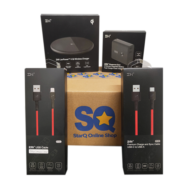 StarQ お買い得 充電セット 【2-in-1 コンセント一体型バッテリー & ワイヤレス充電器 & 高耐久ケーブル× 2】  (通常価格より 約20% OFF)