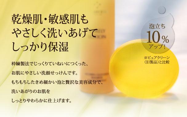 乾燥肌・敏感肌も優しく洗いあげてしっかり保湿 ケアリーソープ
