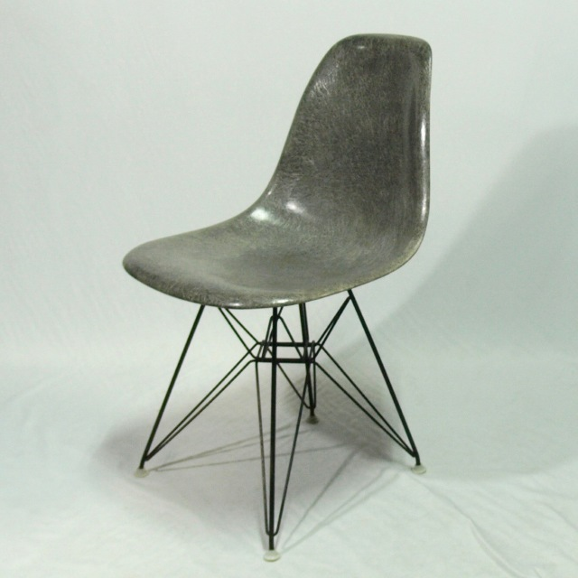 Eames Side Shell Chair Steel Grey