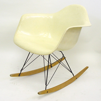 Eames Arm Shell Lemon Rocking (Original)